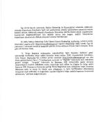 ilgi (býde kayıtlı yazımızla, Maliye Bakanlığı` ile Bakanlığımız
