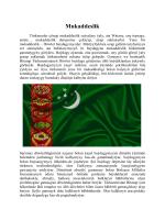 Türkmenistanly okyjylardan gelen makala - Mukaddeslik