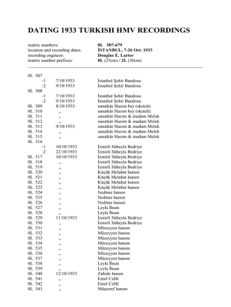 datıng 1933 turkısh hmv recordıngs