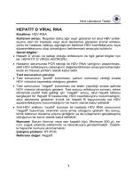 HEPATİT D VİRAL RNA