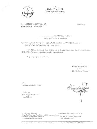 8 limitsiz meb adsl - reyhanlı ilçe millî eğitim müdürlüğü