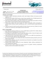 Haftalık Ekonomi Değerlendirme Raporu – 01.10.2014