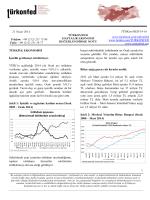 Haftalık Ekonomi Değerlendirme Raporu – 22.04.2014