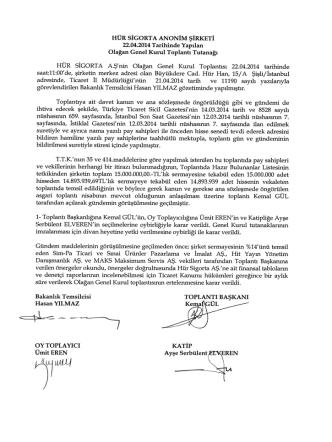 22.04.2014 Genel Kurul Toplantı Tutanağı