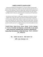 KAMPÜS SPORTİF YAŞAM KULÜBÜ Mimarisi ve felsefesi ile