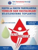 gaziantep programı - Türk Hematoloji Derneği
