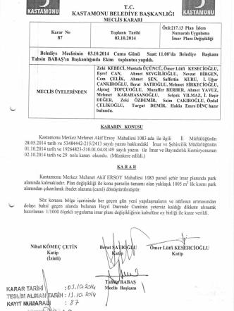 03.10.2014 tarih, 87 sayılı karar