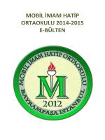 MOBİL İMAM HATİP ORTAOKULU 2014-2015 E-BÜLTEN