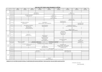 2014-2015 GÜZ YARIYILI DERS PROGRAMI (1.EĞİTİM)