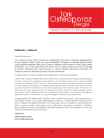 Editörden / Editorial