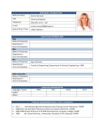 PERSONNEL INFORMATION Name Surname Nurten Şenocak Title