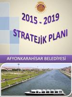 2015 – 2019 STRATEJİK PLAN TASLAĞI