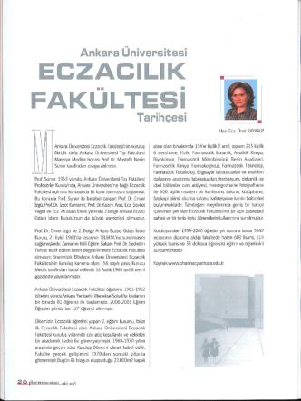 Ankara Üniversitesi Eczacılık Fakültesi Tarihçesi