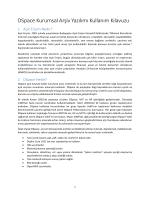 DSpace Kurumsal Arşiv Yazılımı Kullanım Kılavuzu
