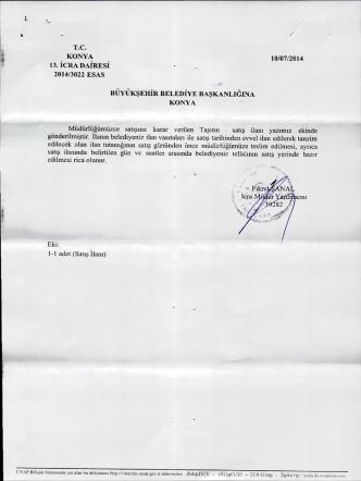 2014/3022 esas - Konya Büyükşehir Belediyesi