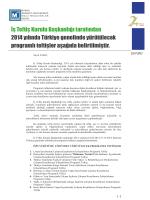 2014 Yılında İş Teftiş Kurulunun Programlı Teftişleri