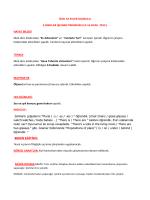 İşlenen Dersler - 52 Evler İlkokulu