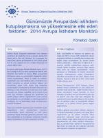 2014 Avrupa İstihdam Monitörü - Eurofound