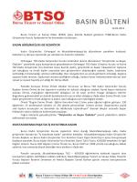 basın bülteni - Bursa Ticaret ve Sanayi Odası