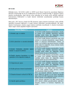 Şeffaflık Raporlarının Yayımlanması ve Kurumumuza İletilmesi