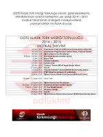 odtü klasik türk müziği topluluğu 2014 – 2015 müzikal takvimi