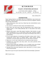 İhtiyat Sandığı Dairesi Hizmet Alımı Kriterleri