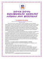 """2013-2014 Nisan Ayı Bülteni """"Çocuklukta Korkular"""""""