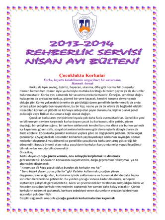 2013-2014 Nisan Ayı Bülteni