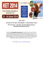 KET 2014 Kırmızı Et Üretimi, Teknolojileri ve Donanımları Fuarı