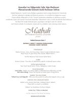 Menü 1 - Matbah Restaurant