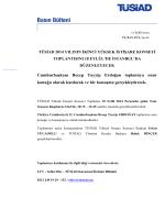 TÜSİAD 2014 yılının ikinci Yüksek İstişare Konseyi Toplantısını 18