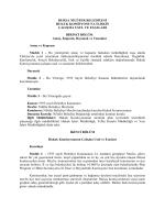 Hukuk Komisyonu Yönergesi