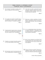 Türkçe Testi Çözümü - Fen Bilimleri Dershanesi