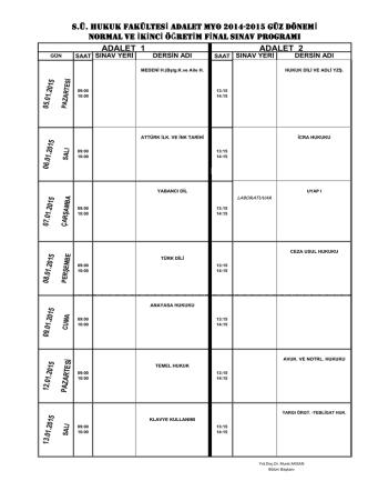 2014-2015 güz final sınavı