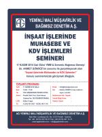 iNşAAT işLERiNDE - YMM Ahmet Gündüz