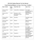 Sınav Tarihleri - Sağlık Bilimleri Fakültesi