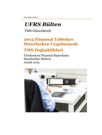 2015 Finansal Tabloları Hazırlarken Uygulanacak