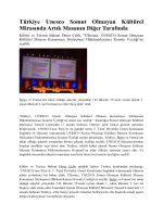 Türkiye Unesco Somut Olmayan Kültürel Mirasında Artık Masanın