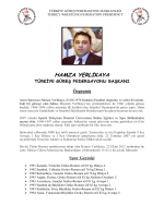 HAMZA YERLİKAYA - Türkiye Güreş Federasyonu