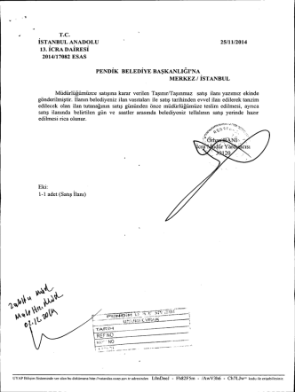 25/11/2014 13. İCRA DAİRESİ 2014/17082 EsAs