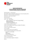inönü üniversitesi 1.tavı günleri toplantı programı