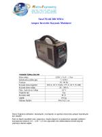 Steel Weld 200 MMA Amper Invertör Kaynak Makinesi