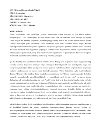Çalışma hakkında (Türkçe)