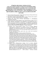 2014 Olağan Mali Genel Kurul Delegelere Çağrı
