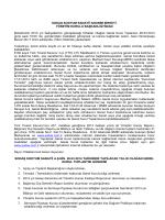 2013 yılı faaliyeti ile ilgili olağan toplantıya davet (26.03.2014)