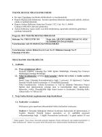 Teknik Destek ve Nihai Rapor