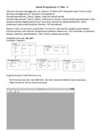 Görsel Programlama -2 Ödev - 5 Ödevinizi alicoskunodev@gmail