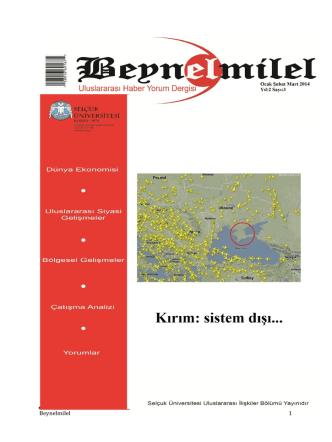 Beynelmilel 1 - Selçuk Üniversitesi