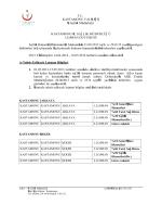T.C. KASTAMONU VALİLİĞİ İl Sağlık Müdürlüğü KASTAMONU İL