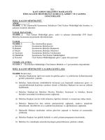 tc kastamonu belediye başkanlığı özel kalem müdürlüğü kuruluş